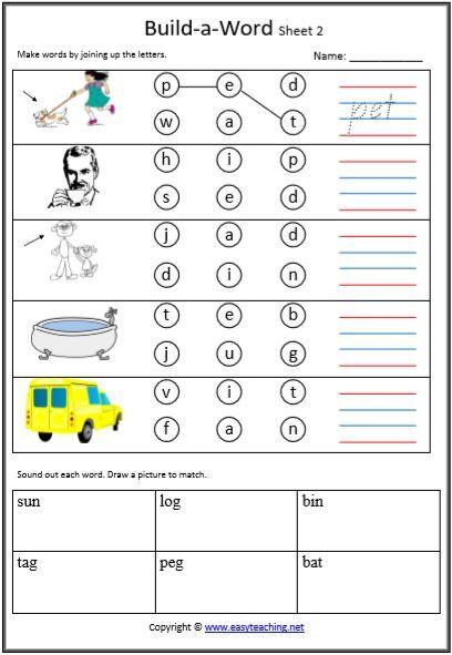 Free Printable Cvc Worksheets Cvc Worksheets Printable Worksheets • Easyteaching In