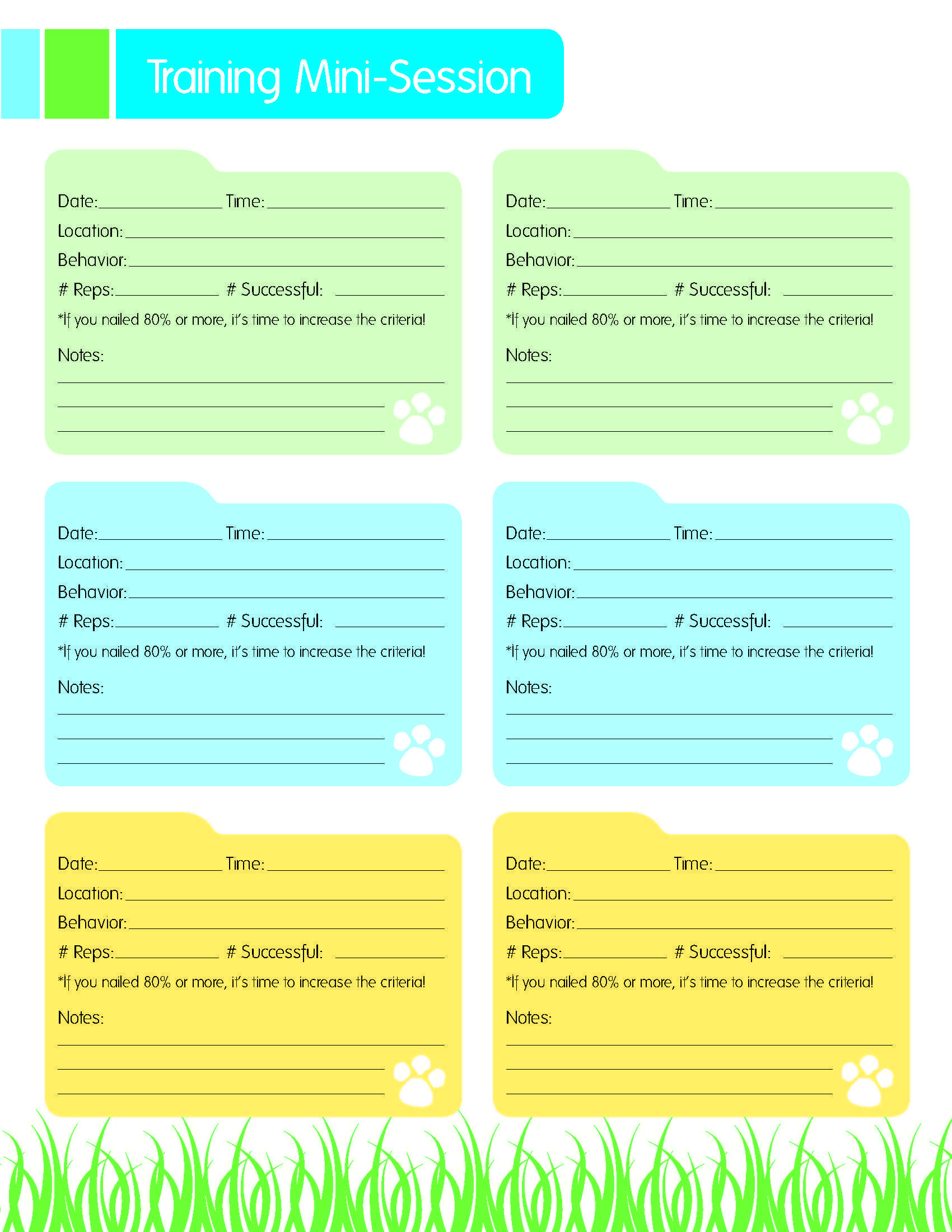Free Printable Dog Training Worksheets Dog Training Resource Free Mini Session Training Printable