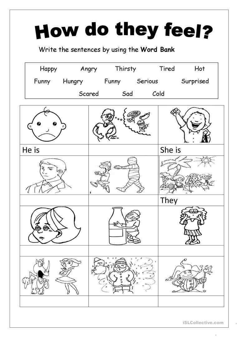 Free Printable Feelings Worksheets Feelings