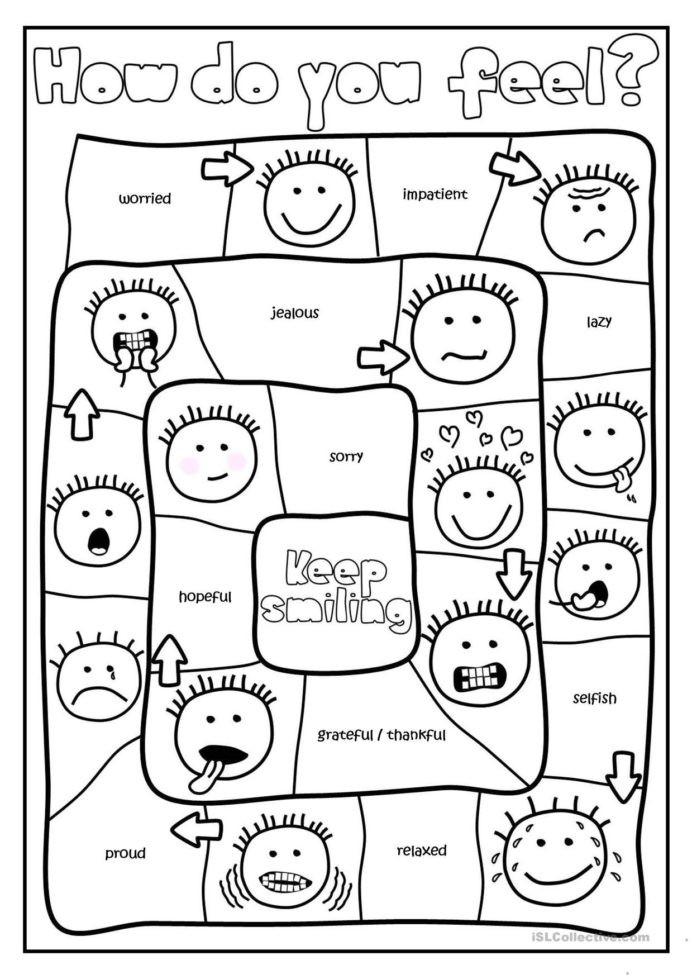 Free Printable Feelings Worksheets Free Printables and Activities Feelings Emotions social