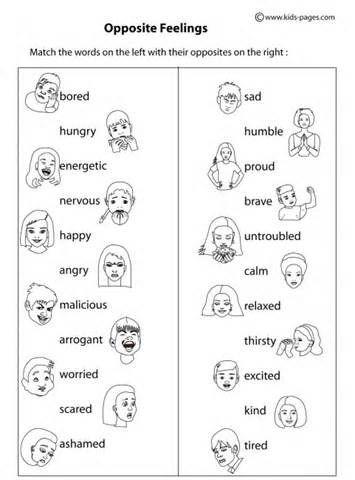 Free Printable Feelings Worksheets What are Feelings Worksheets F18