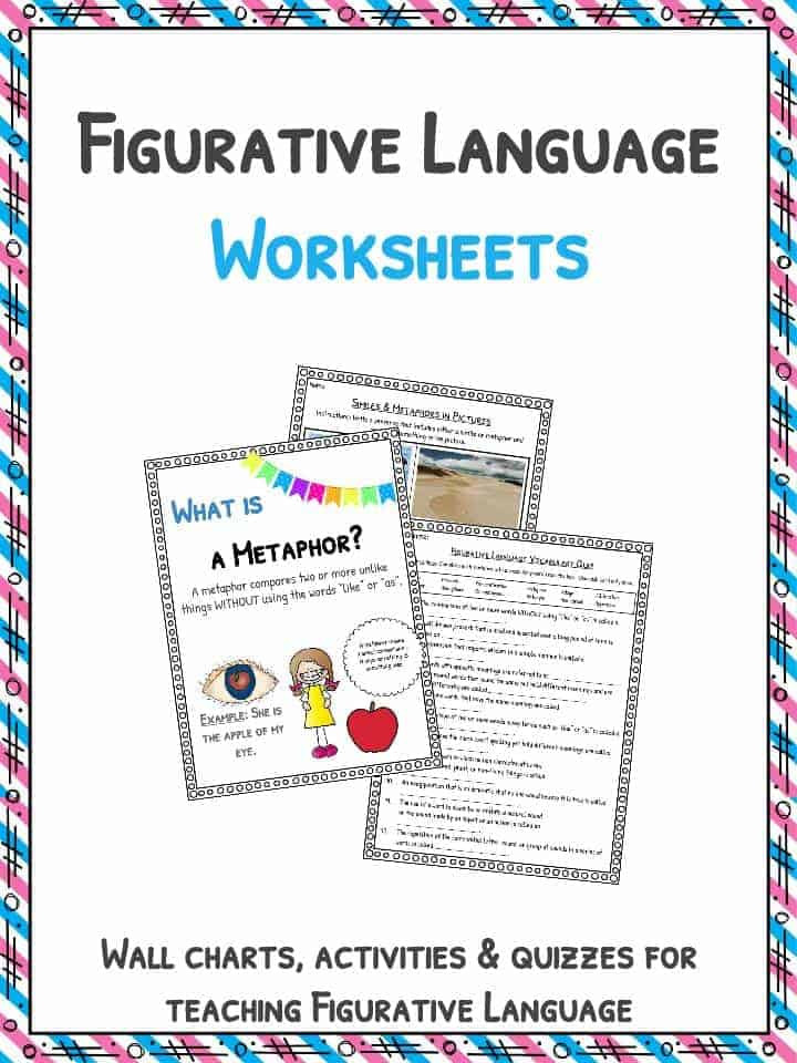 Free Printable Figurative Language Worksheets Figurative Language Worksheets