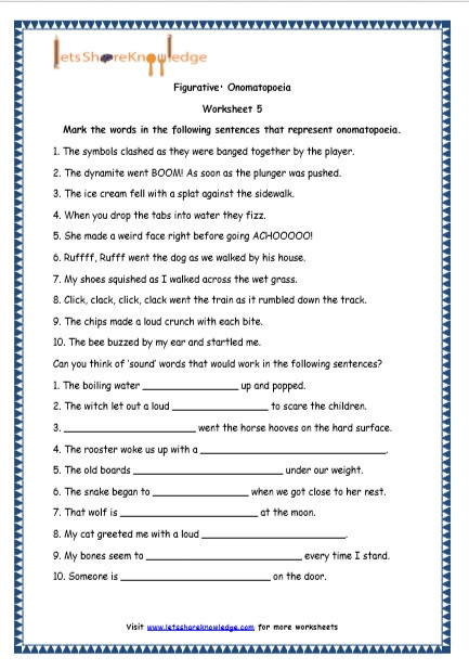 Free Printable Figurative Language Worksheets Grade 4 English Resources Printable Worksheets topic