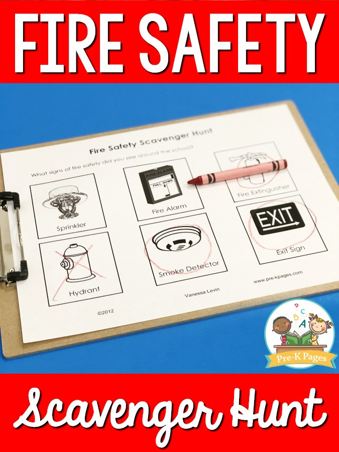 Free Printable Fire Safety Worksheets Fire Safety Scavenger Hunt