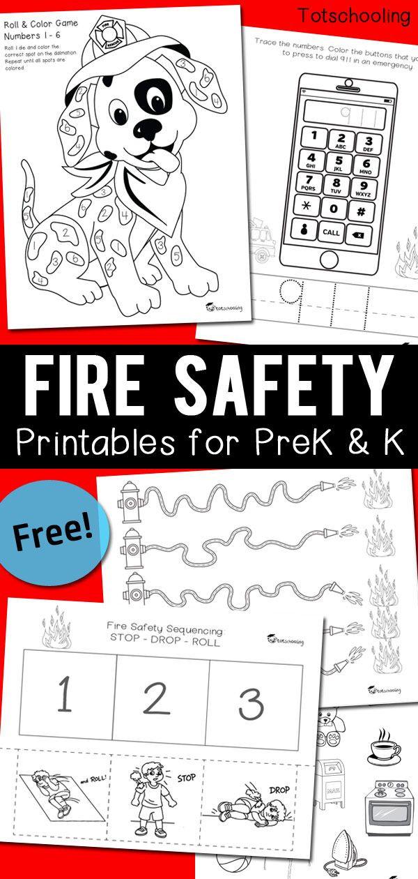 Free Printable Fire Safety Worksheets Fire Safety Worksheets for Prek & Kindergarten