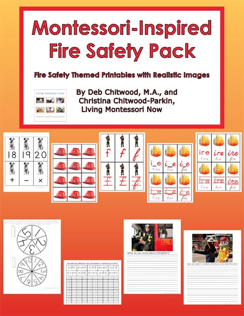 Free Printable Fire Safety Worksheets Free Fire Safety Printables and Montessori Inspired Fire