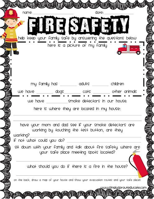 Free Printable Fire Safety Worksheets Pin On School Ideas