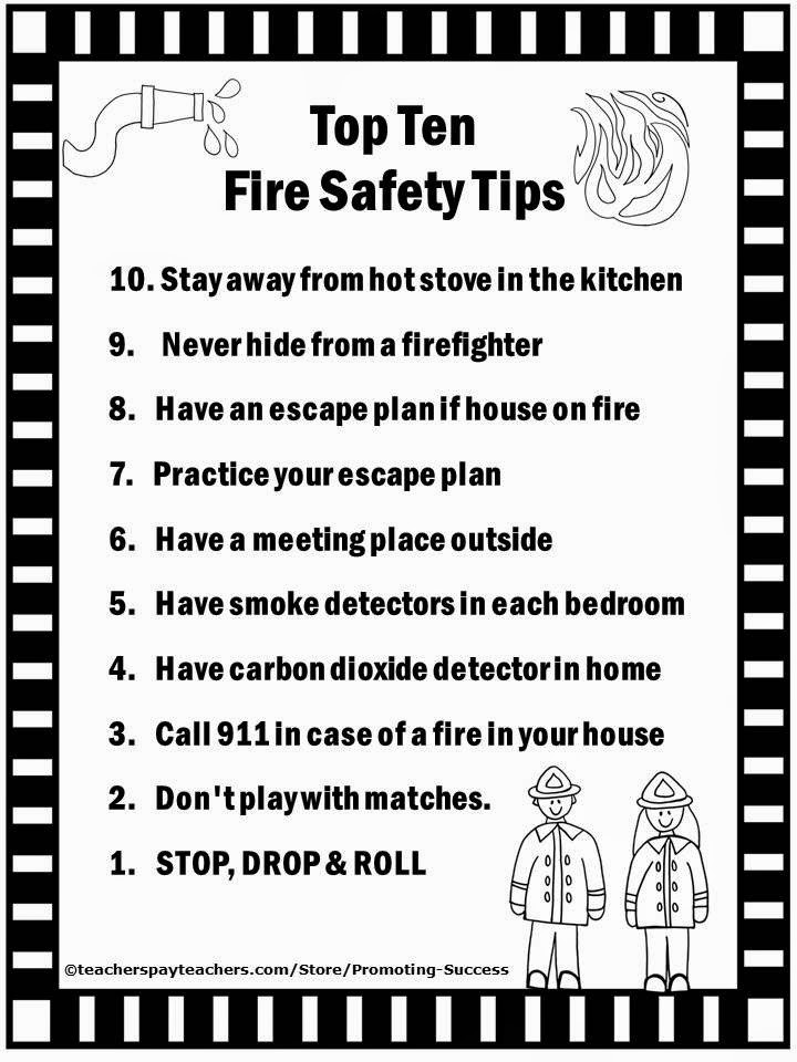Free Printable Fire Safety Worksheets Promoting Success Free Fire Prevention Week Printables top