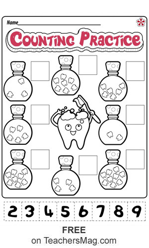 Free Printable Health Worksheets Dental Health Worksheets for Preschool and Kindergarten