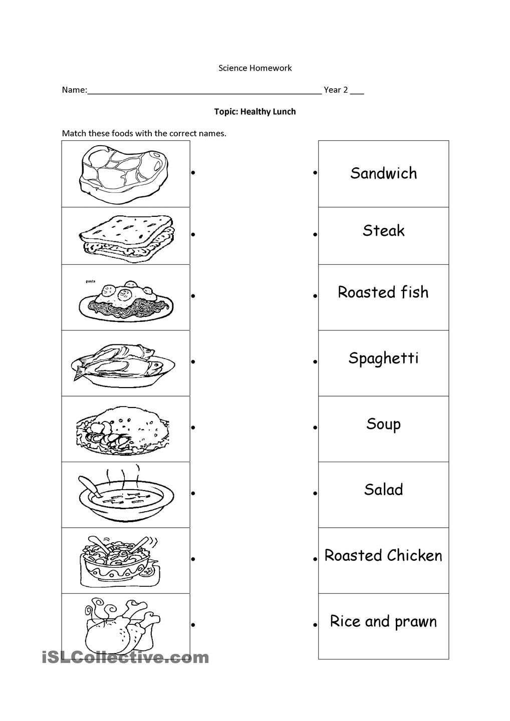 Free Printable Health Worksheets Healthy Food