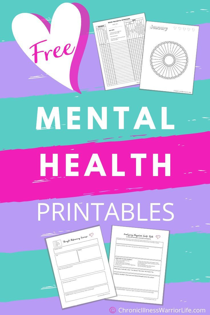 Free Printable Health Worksheets Printable Mental Health Worksheets Anxiety Disorder