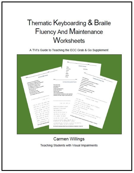 Free Printable Keyboarding Worksheets thematic Keyboarding & Braille Fluency and Maintenance Worksheets