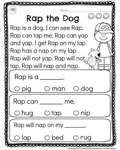 Free Printable Kindergarten Fluency Passages Kindergarten Reading Prehension Passages
