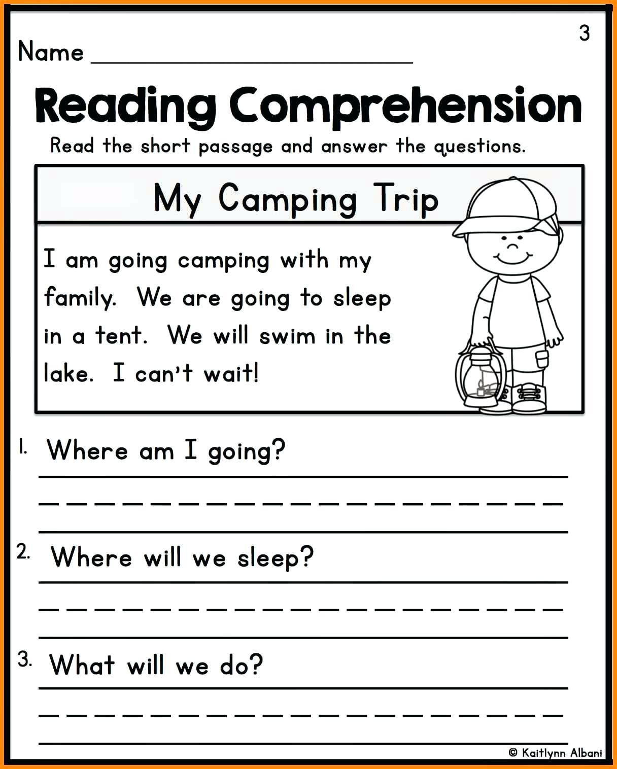 Free Printable Kindergarten Fluency Passages Reading Passages for Kindergarten Kindergarten Reading