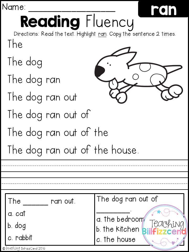 Free Printable Kindergarten Fluency Passages Reading Worksheets for Kindergarten Free & 25 Best Ideas