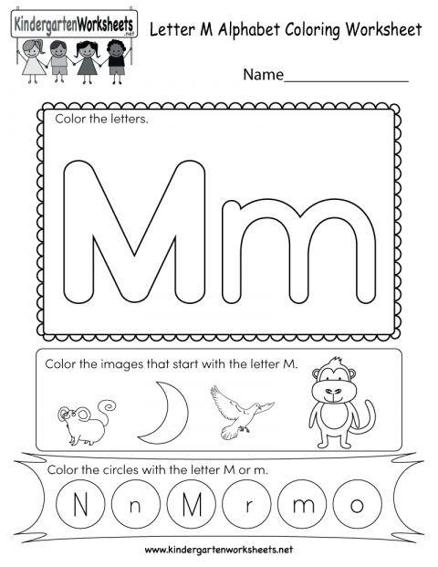 Free Printable Letter M Worksheets 8 Letter M sound Worksheet Preschool Preschool