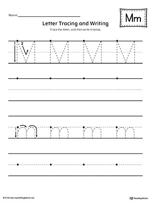 Free Printable Letter M Worksheets Letter M Tracing and Writing Printable Worksheet