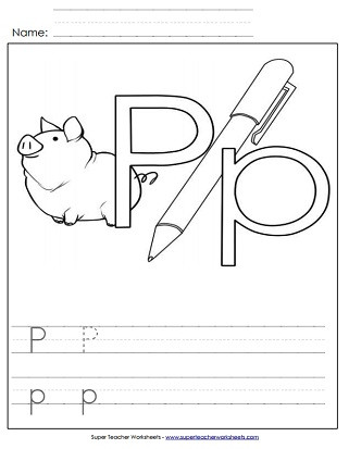 Free Printable Letter P Worksheets Letter P Worksheets Recognize Trace & Print