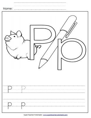 Free Printable Letter P Worksheets Letter P Worksheets Recognize Trace & Print