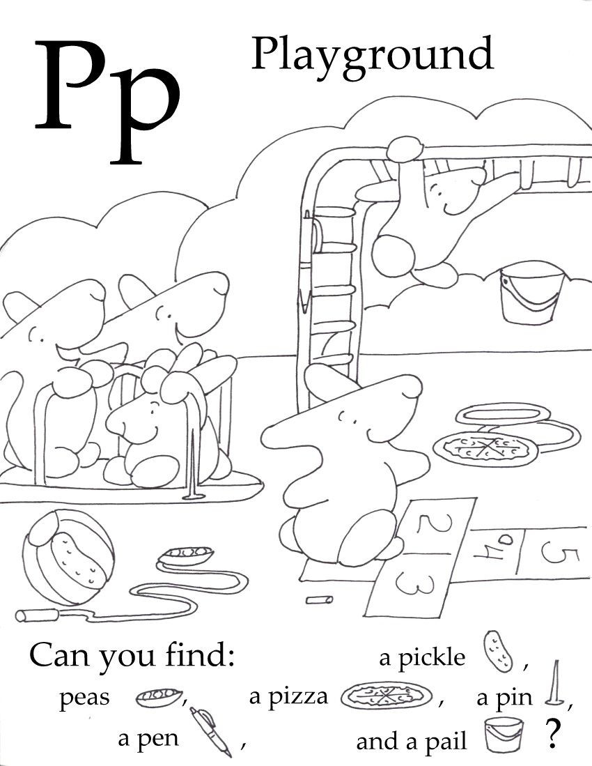 Free Printable Letter P Worksheets Seek and Finds