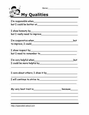 Free Printable Life Skills Worksheets Printable Worksheets for Kids to Help Build their social