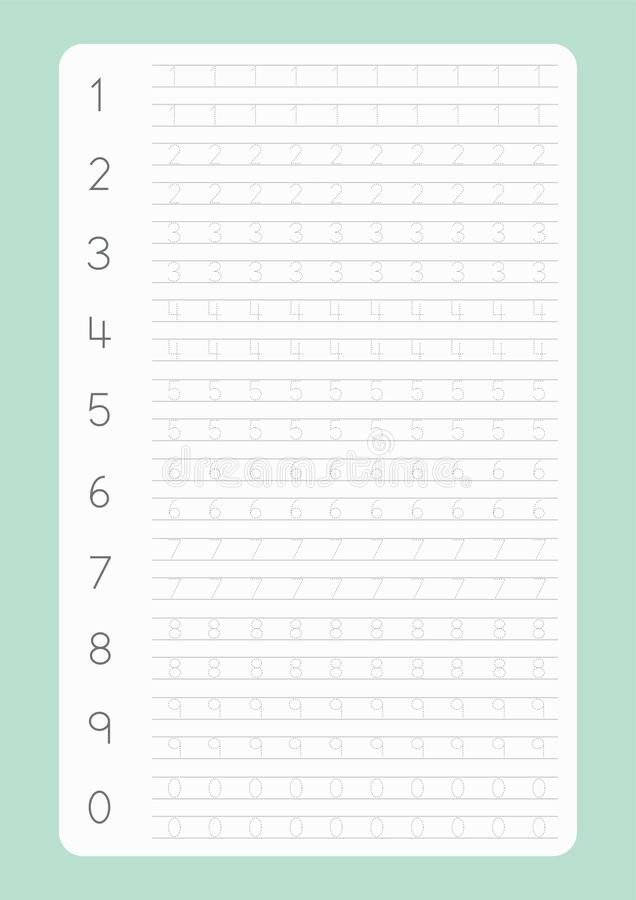 Free Printable Number Tracing Worksheets Worksheet Free Handwriting Pages for Writing Numbers