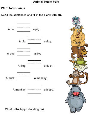 Free Printable Preposition Worksheets Free Printable Preposition Worksheets for Preschoolers