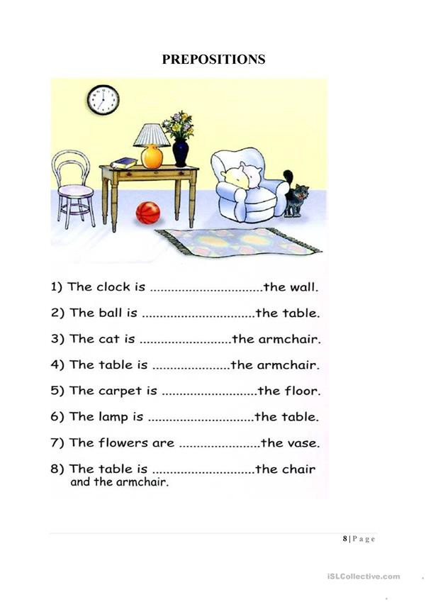 Free Printable Preposition Worksheets Preposition Worksheet English Esl Worksheets for Distance