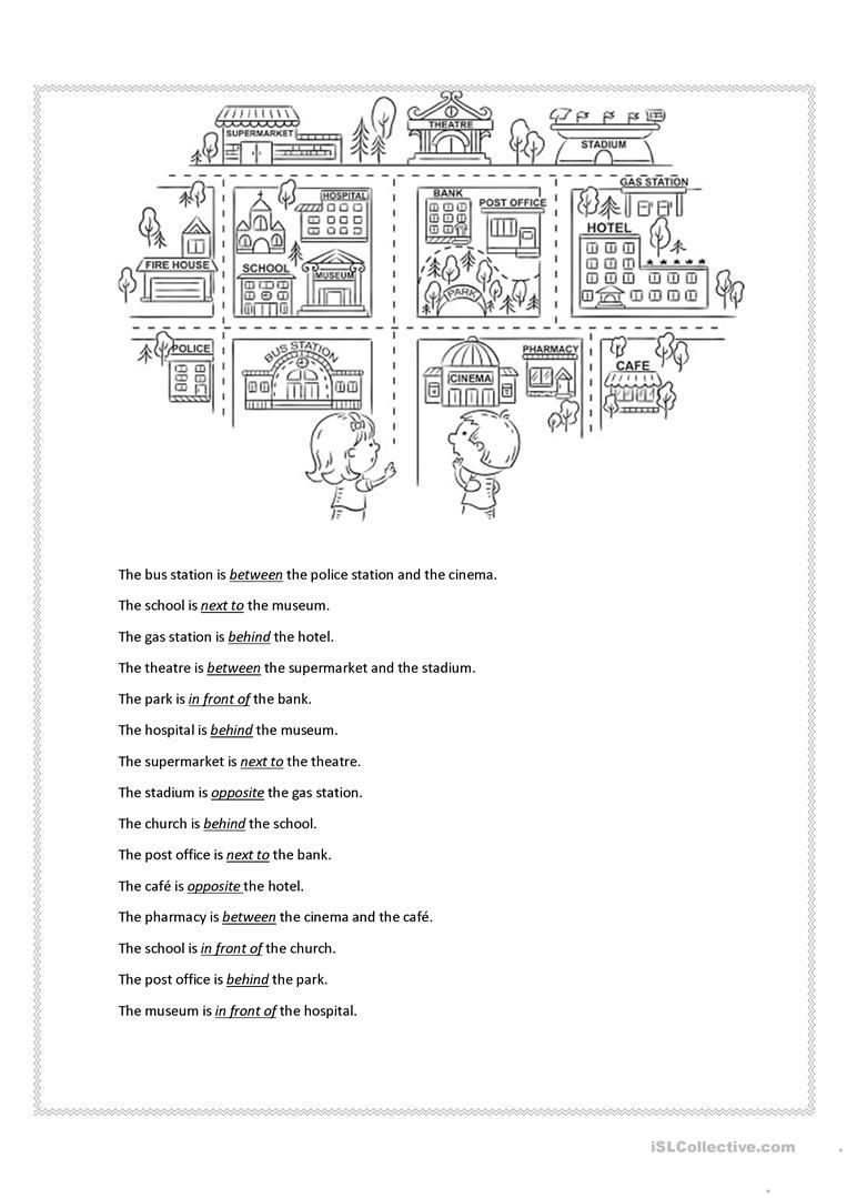 Free Printable Preposition Worksheets Prepositions Of Place