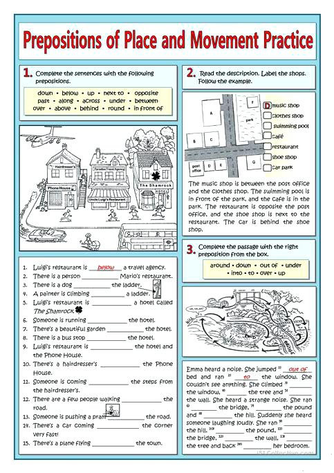 Free Printable Preposition Worksheets Prepositions Practice Worksheet Prepositions Place and