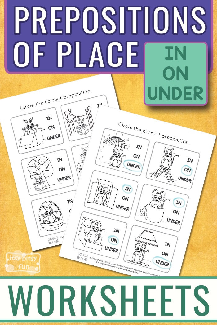 Free Printable Preposition Worksheets Prepositions Worksheets Itsy Bitsy Fun