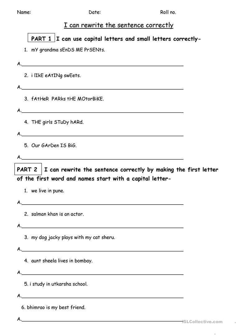 Free Printable Punctuation Worksheets Punctuation Worksheet English Esl Worksheets for Distance