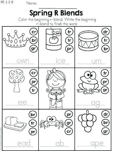 Free Printable R Blends Worksheets Blends for Kindergarten – Callumnichollsub