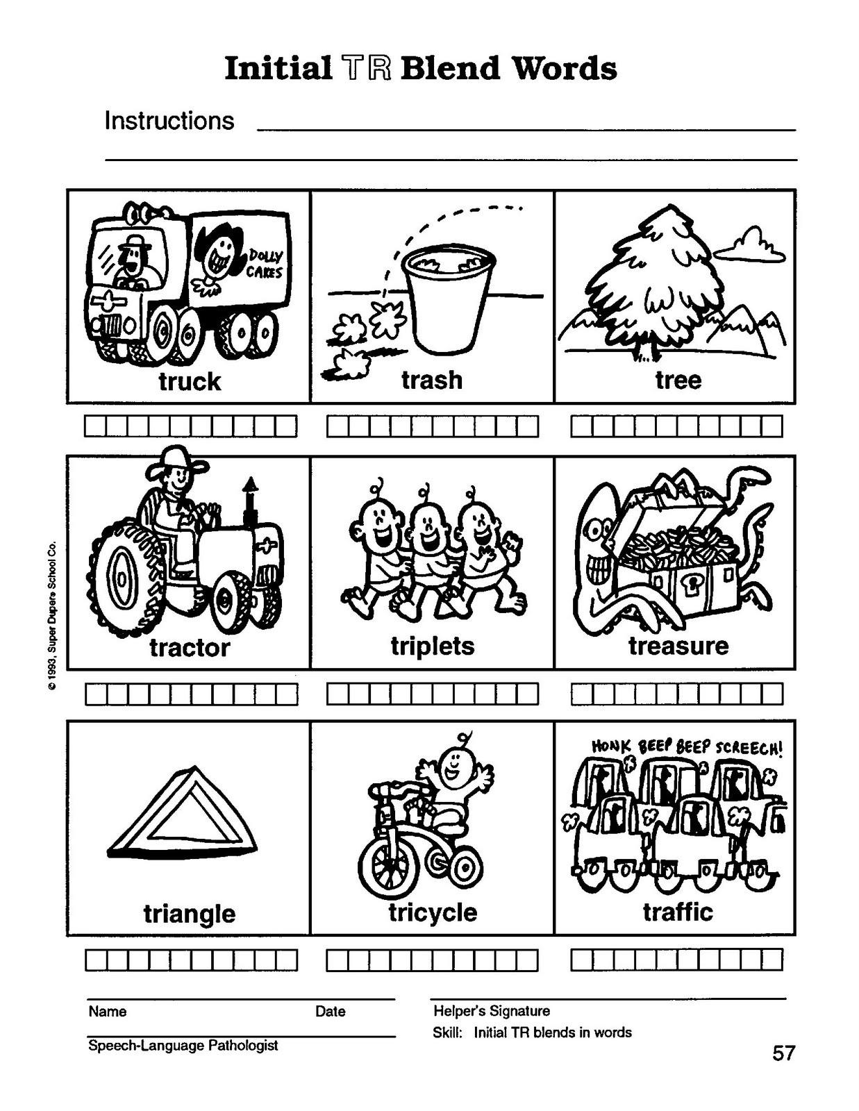 Free Printable R Blends Worksheets Blends Worksheet K