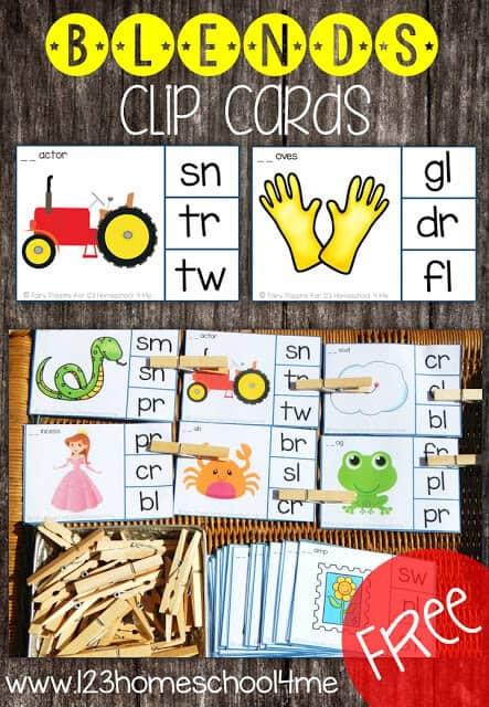 Free Printable R Blends Worksheets Free Consonant Blends Clip Cards