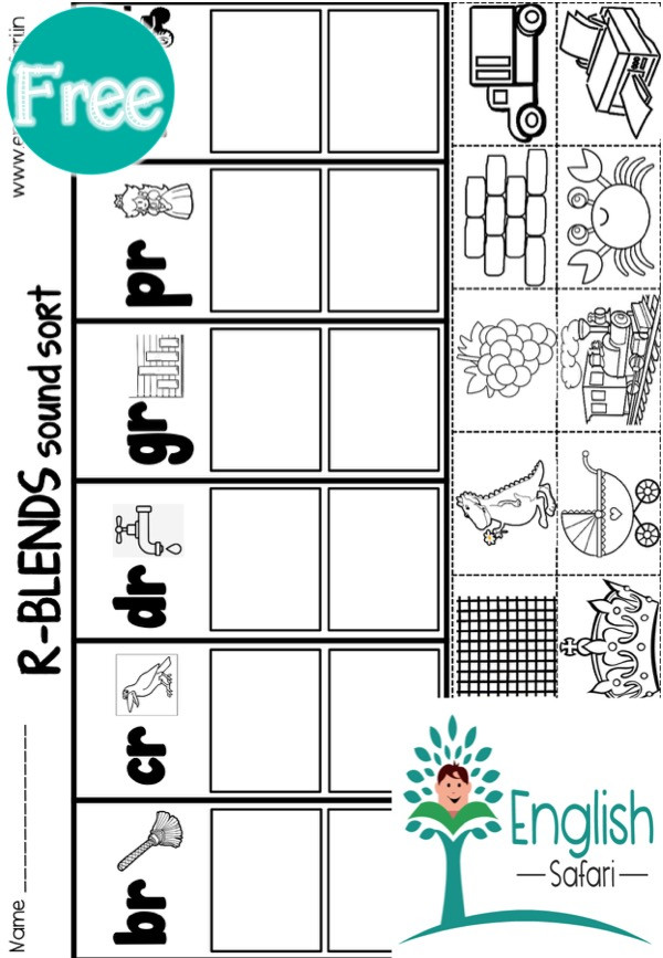 Free Printable R Blends Worksheets R Blends Worksheets for Kindergarten