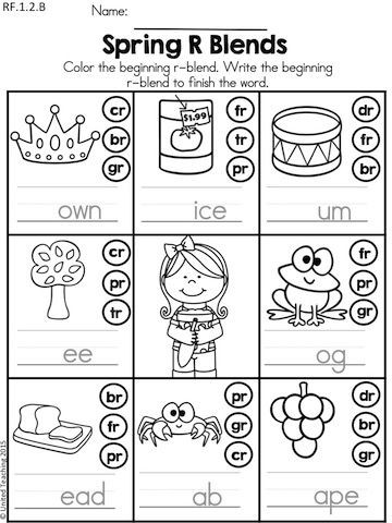 Free Printable R Blends Worksheets Spring Literacy Worksheets 1st Grade Distance Learning