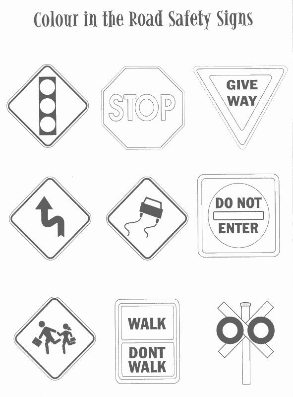 Free Printable Safety Signs Worksheets Free Printable Safety Signs Worksheets Inspirational Traffic