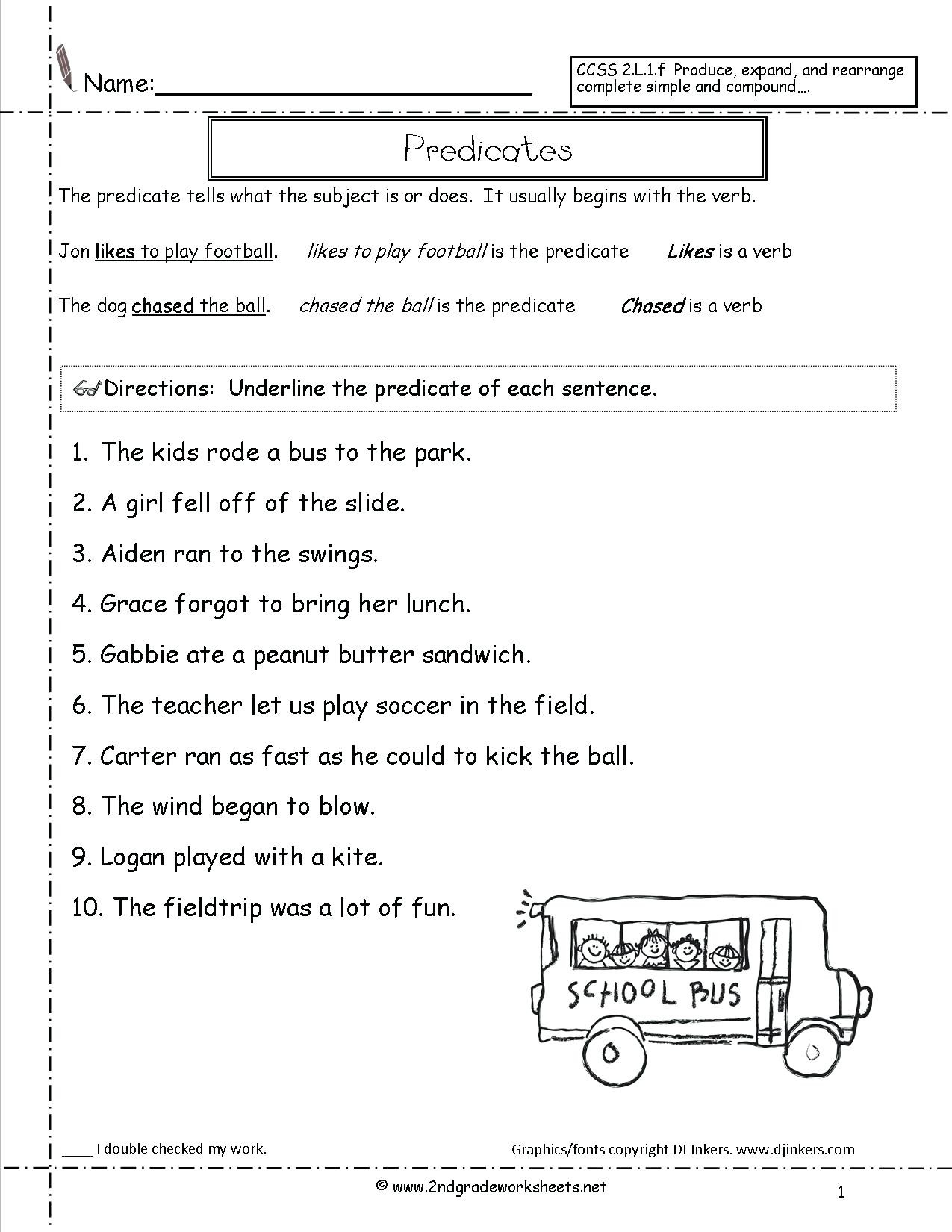 Free Printable Sentence Structure Worksheets Free Sentence Structure Worksheets Sentence Worksheet