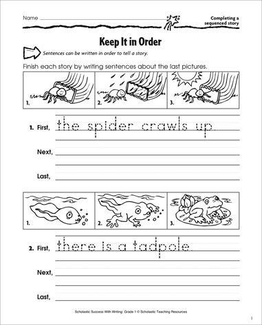 Free Printable Sentence Writing Worksheets Edit Sentences First Grade