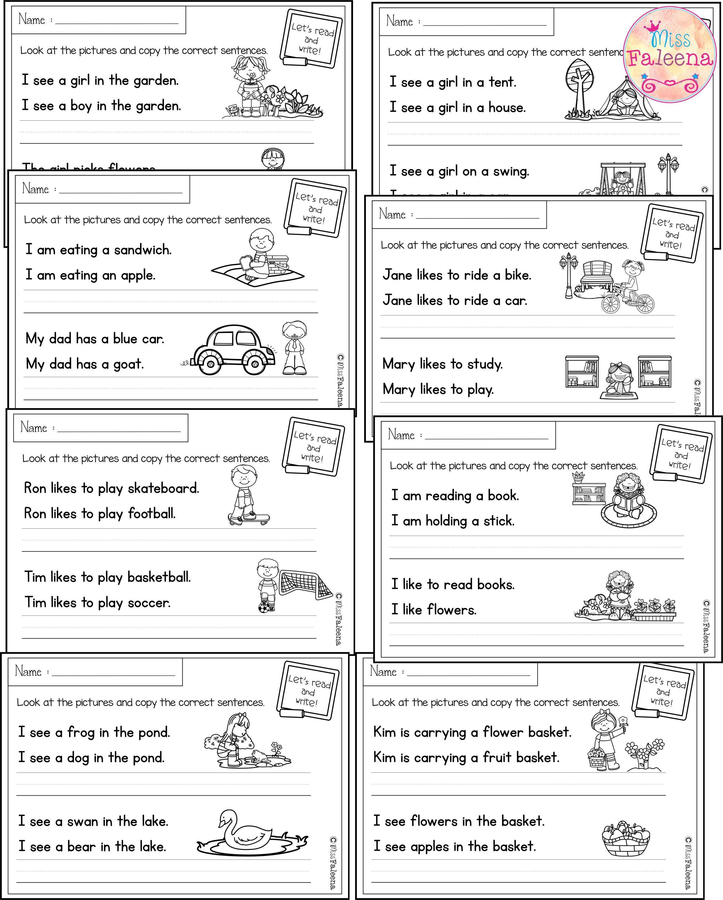 Free Printable Sentence Writing Worksheets May Sentence Writing