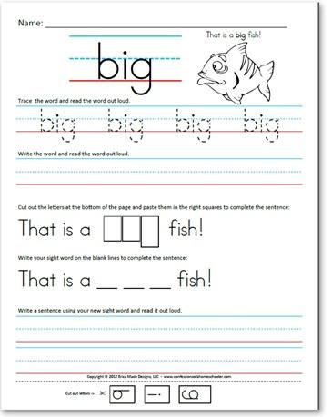 Free Printable Sentence Writing Worksheets Pre Kindergarten Pre Primer Sight Word Sentences