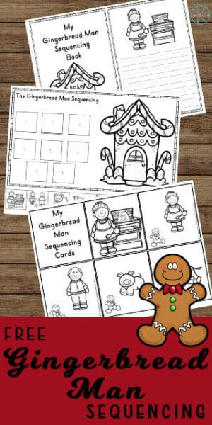 Free Printable Sequencing Worksheets Gingerbread Man Sequencing Activities