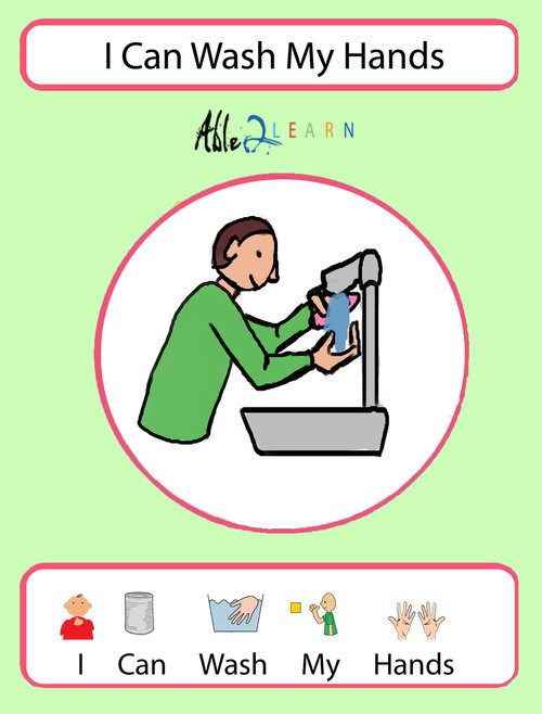 Free Printable social Stories Worksheets Free I Can Wash My Hands social Story