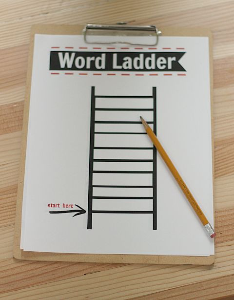 Free Printable Word Ladders after School Activity Word Ladders Printable Free