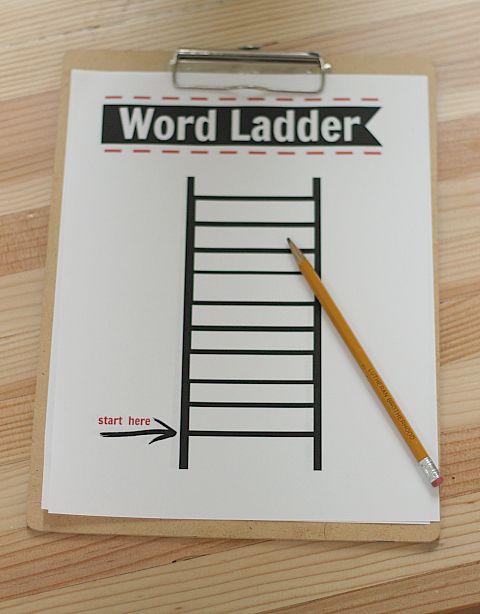 Free Printable Word Ladders after School Activity Word Ladders Printable Free