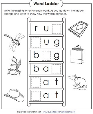 Free Printable Word Ladders Word Ladder Worksheets