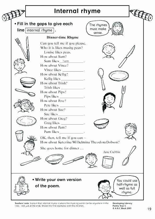 Free Rhyming Worksheets for Kindergarten Free Rhyming Worksheets for Kindergarten Rhyming Worksheets