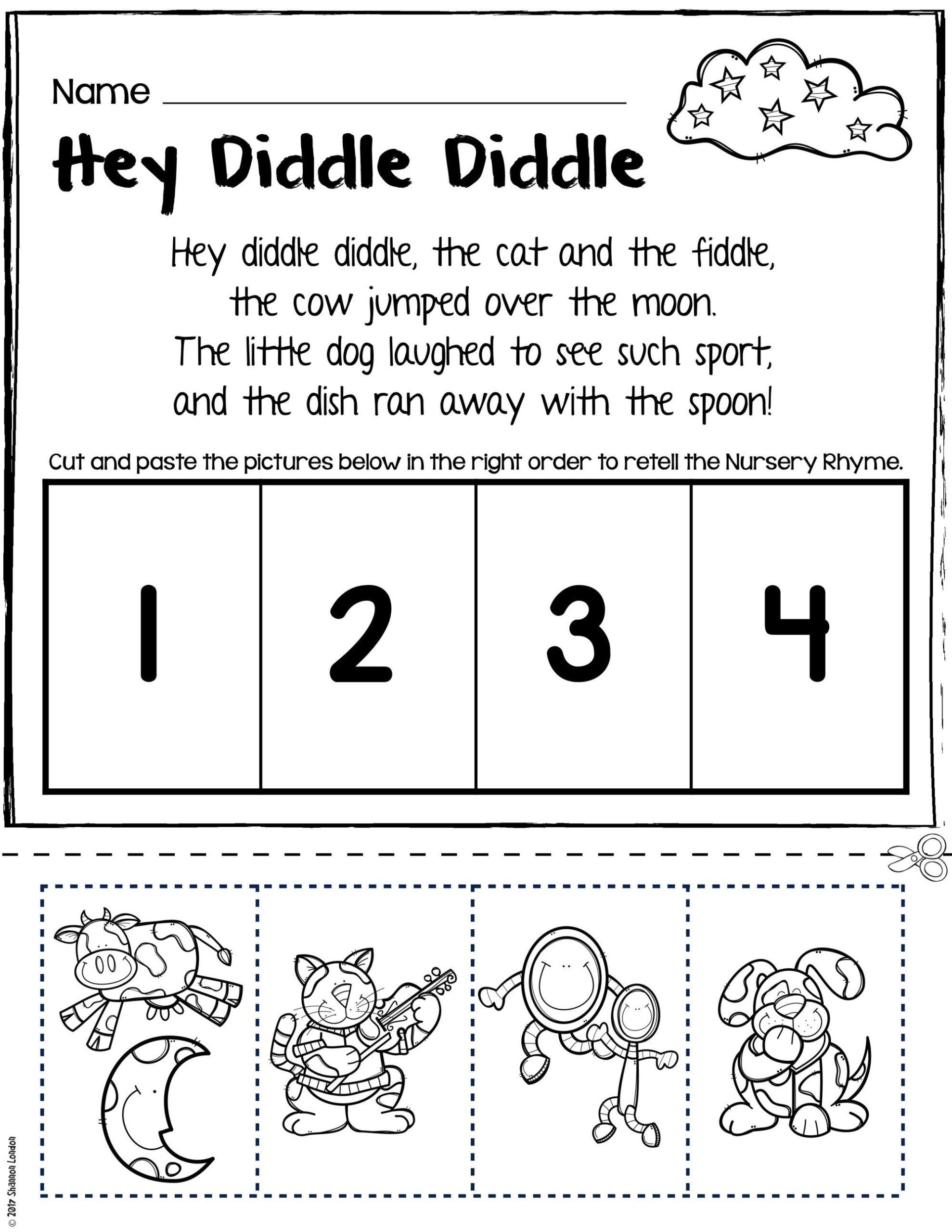 nursery rhymes worksheets for story retelling practice free rhyming preschool maths help sheets scaled