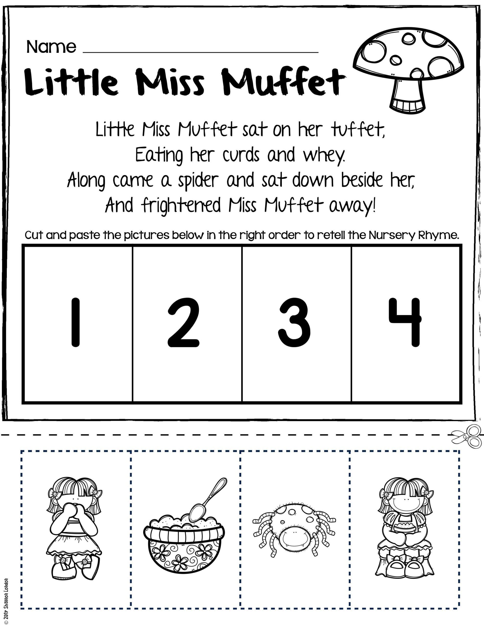 Free Rhyming Worksheets for Kindergarten Rhyming Printables for Preschool Worksheet